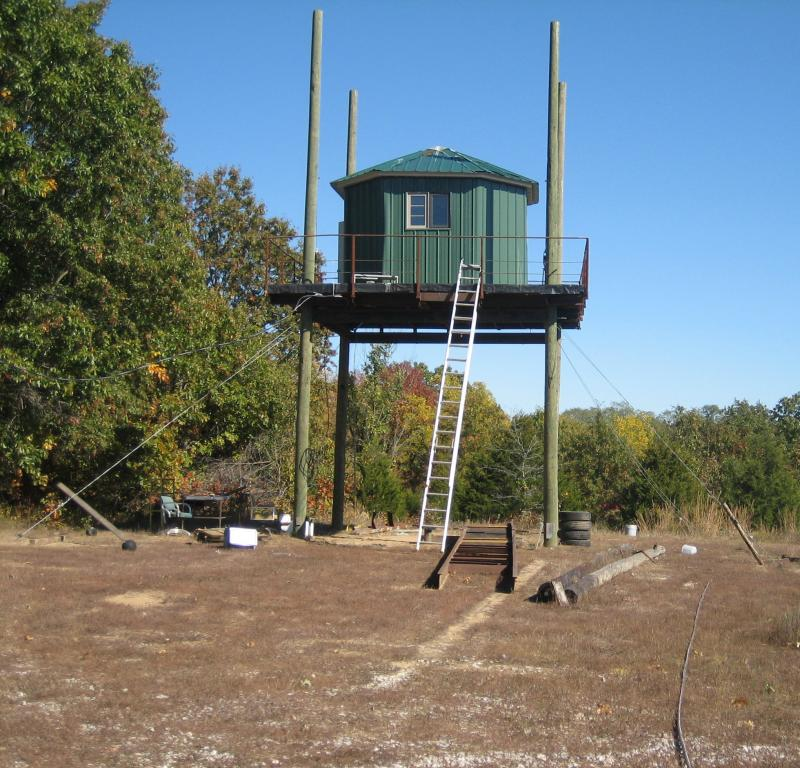 Tower WIth Support Cables - 1